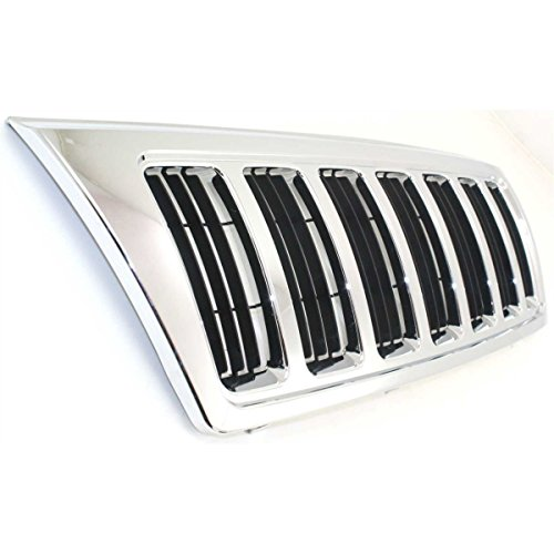 (Diften 102-A4285-X01 - New Grille Assembly Grill Chrome shell black insert Jeep Grand Cherokee 2004)