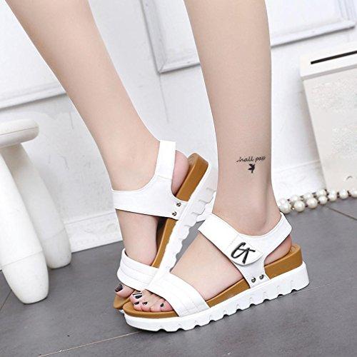 High Weiß Frauen Slingback Schuhe Pailletten Sommer Größe Heel Schnürung 2 Riemchen Peep Schwarz Sandalen Gladiator 9 Lolittas Gummi Keilplattform Toe Bling 1XgRdqxq