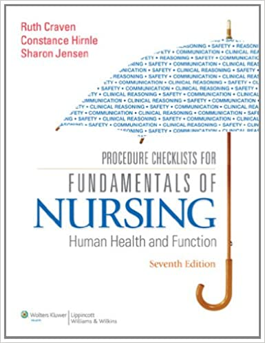 Procedure checklists for fundamentals of nursing human health and procedure checklists for fundamentals of nursing human health and function seventh edition fandeluxe Image collections