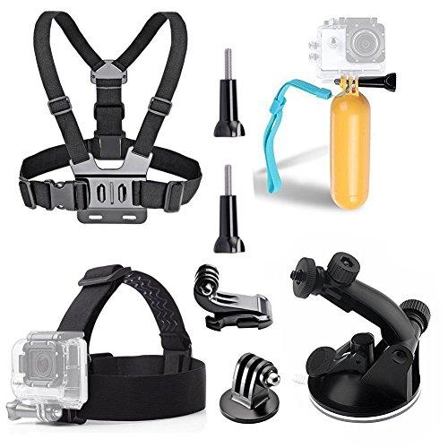 TEKCAM 5-In-1 Action Camera Accessory Kits Bundle for Gopro Hero 6 5/AKASO EK7000 Brave 4 4K/Crosstour/YI 4k Waterproof Camera in Skating Climbing Biking Riding Camping Outdoor Sports by TEKCAM