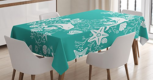 sea-animals-decor-tablecloth-by-ambesonne-dolphins-and-flowers-sea-floral-pattern-starfish-coral-sea