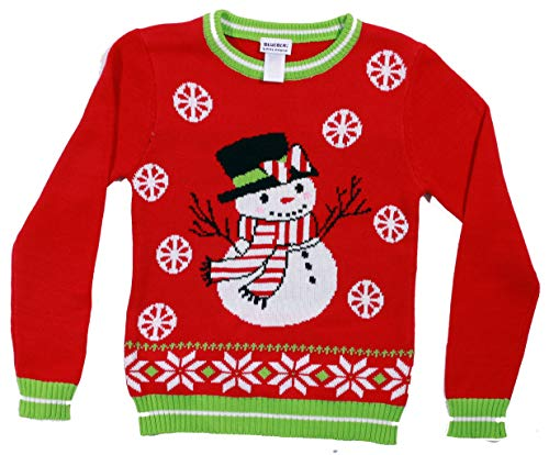 Blueberi Boulevard Girls Ugly Christmas Sweater - Sweaters for Girl AMB25033-10-12