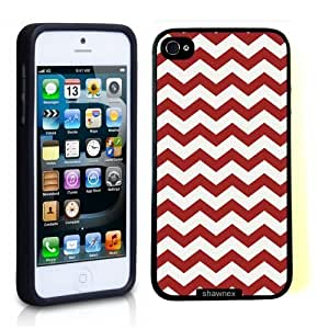 Iphone 5S Case Thinshell Case Protective Iphone 5S Case Shawnex Bright Red Thick Chevron