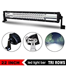 Jiuguang Triple Rows Led Light Bars Combo Beam CREE Chips Off Road High Bright for Jeep SUV Truck ATVs