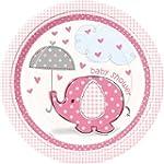 Umbrellaphants Pink 23cm Paper Plate...