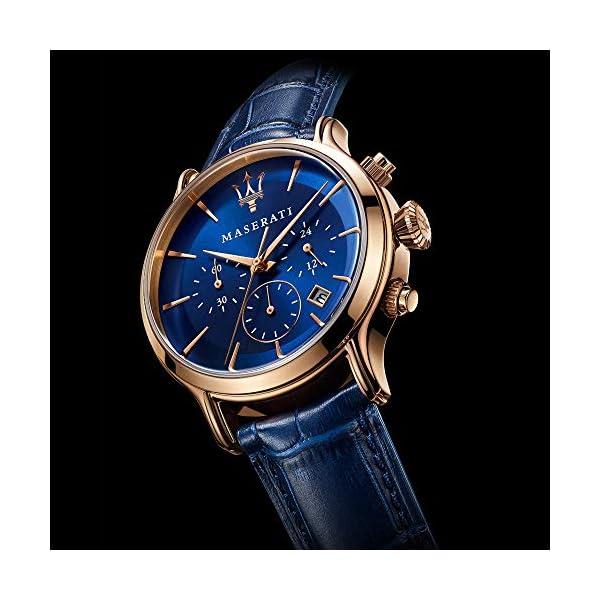 Orologio da uomo, Collezione Epoca, movimento al quarzo, cronografo, in acciaio, PVD oro rosa e cuoio - R8871618007 5