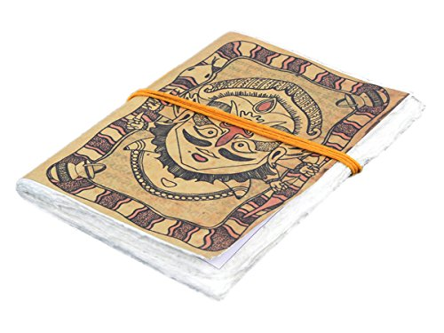 New Year Gifts Handmade Blank Journal Personal Diary Composition Notebook Travel Record Book Sketchbook Maha Kumbh Festival Themed 7 x 5 Unlined 48 Pages Office Paper - Bound Cloth Book Hand