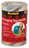 Office Products : Scotch Packaging Tape Refill, 1.88 x 900 Inches, Clear, 2 Pack (DP-1000-RR-2)