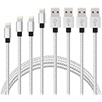 Lightning Cable, Capkit 4PACK 3FT 6FT 6FT 10FT Premium Nylon Braided 8Pin Cables Sync Lightning to USB Charger Compatible with iPhone iPhone X, 8, 8 Plus,7/ 7 Plus/6/6s/6 plus/6s plus/ 5s/5c,iPad more