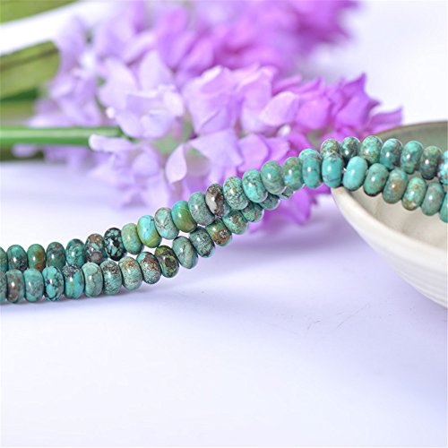10pcs Grade A Natural Green Turquoise Beads NOT Dyed Abacus Shape 3x5mm/3x6mm/4.5x8mm TQ26