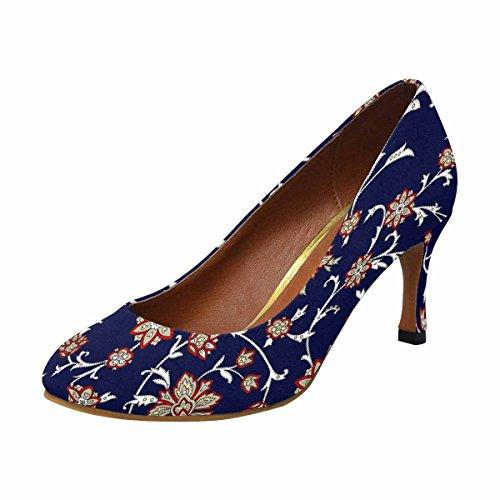 Scarpe Da Donna Eleganti Scarpe Da Ginnastica Tacco Alto Stile Classico Floreale Orientale Sfondo Etnico
