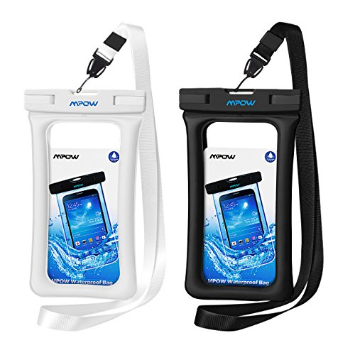 Mpow 084 Waterproof Phone Pouch Floating, IPX8 Universal Waterproof Case Underwater Dry Bag Compatible iPhone 11 Pro Max/XS Max/XR/X/8P/7P Galaxy S10/S9 Note 10/9 Google Pixel Up To 6.5 (Black+White)