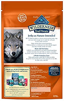 Blue Buffalo Wilderness Grain-Free Turkey Dog Jerky Treats, 3.25 oz