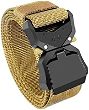 Tactical Belt for Men,Duty Belt, Web Belt, 1.5 Inch Military Style Riggers Belt for Men