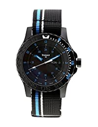 Traser Blue Infinity Watch with Sapphire Crystal and striped black NATO Strap 105545