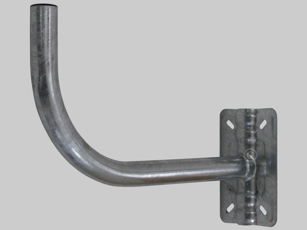 Soporte pg40 curvo pared//m/ástil barandilla 40mm Fte-maximal pg40