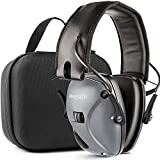 Awesafe Ear Protection for Shooting Range,Electronic Hearing Protection for Impact Sport [with Travel Storage Carrying Case Bag],Safety Ear Muffs, NRR 22, Ideal for Shooters and Hunting,Grey