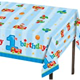 Plastic Table Cover, Fun at One Happy Birthday Boy