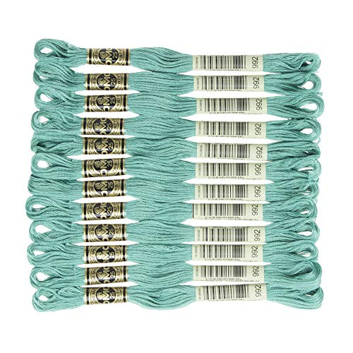 DMC 6-Strand Embroidery Cotton Floss, Medium Aquamarine (Aquamarine Bracelet Strand)