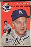 1954 Topps #5 Ed Lopat (d.92) New York Yankees Autographed Signed Card JSA