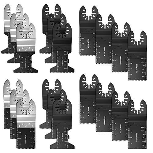 (20pcs Bi-Metal/Wood Universal Oscillating Multitool Quick Release Saw Blades Tool Blades For Fein Multimaster Dewal Porter Rockwell Cable Black Decker Bosch Craftsman Dremel Chicago )