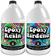 Hippie Crafter Epoxy Resin Crystal Clear Resin Kit Art and Tabletop | 2 Part Countertop (1 Gallon...