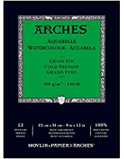 """Arches Water Colour Pad, 140lb / 300GSM, Cold Pressed, 9"""" x 12"""""""