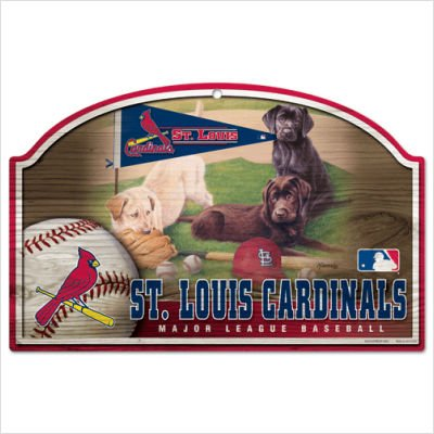 (MLB St. Louis Cardinals 11-By-17-Inch Killen Print Wood Sign)