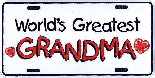 World' s GREATEST Grandma Metal License Plate 6 x 12 Tag City Auto tag