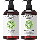 Laritelle Organic Shampoo 17 oz + Conditioner 16 oz | Prevents Hair Loss, Promotes Hair Growth | Organic Quinoa + Keratin + Rosemary, Ginger & Grapefruit | NO GMO, SLS, Gluten, Parabens, Phthalates Review