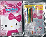 Sanrio Hello Kitty Play Pack Grab & Go Pink Bows Coloring Book and Crayons Set with Sticker Sheet