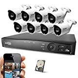 Best Vision 16CH 4-in-1 HD DVR Security Camera System (1TB HDD), 8pcs 1.3 MP High Definition Outdoor Cameras with Night Vision - DIY Kit, App for Smartphone Remote Monitoring