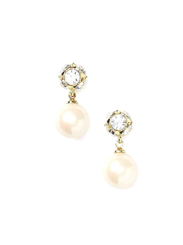 c48964cac7fe9 Kate Spade New York Bow Pearl Drop Earrings, Cream/Gold