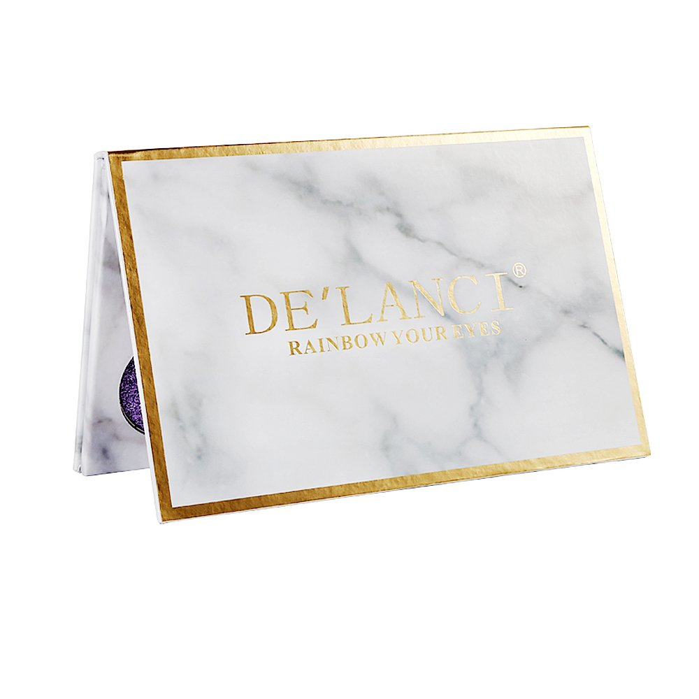 DE'LANCI Eyeshadows Palette Makeup,4 Creamy Mixed Glitter and 6 Matte Shades Insanely Pigmented Cosmetic Eye Shadows Set for Party and Daily Use by DE'LANCI (Image #7)