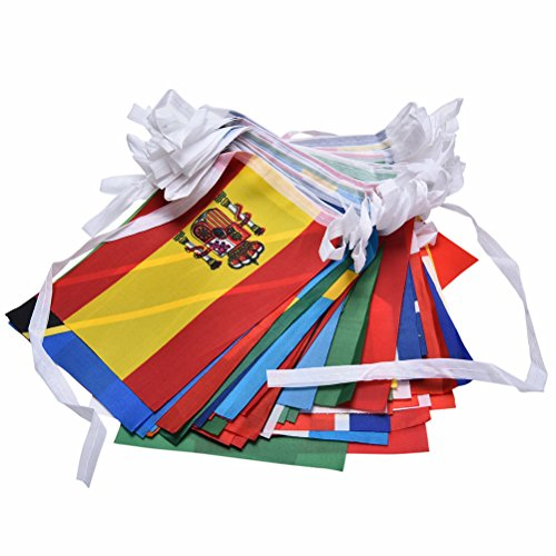 Buytra 100 countries flags 82ft international flags for International party decor
