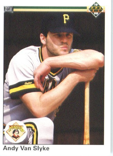 1990 Upper Deck # 536 Andy Van Slyke Pittsburgh Pirates - MLB Baseball Trading Card