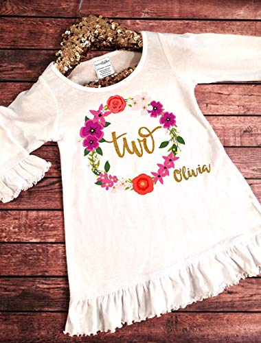 Toddler Girl 2nd Birthday Dress 2nd Birthday Outfit -