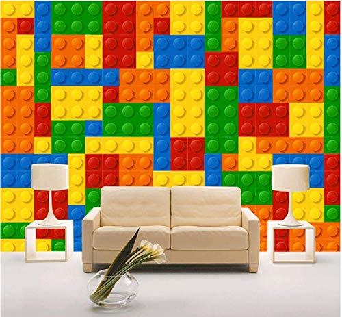 Yirenfeng Benutzerdefinierte größe 3d wandbilder wallpaper für wohnzimmer lego ziegel kinder schlafzimmer spielzeuggeschäft vlies mural tapete decor-400x250cm