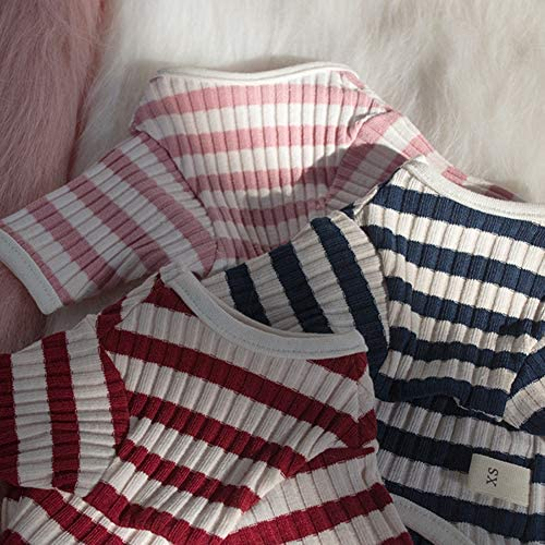 DENTRUN Hairless Cats Shirt Cat Wear Clothes Stripe Vest Best Hairless Cat's Adorable Clothes Cat's Pajamas Jumpsuit for All Season, Soft & Skin-Friendly 25