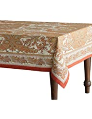 Maison d' Hermine Kashmir Paisley 100% Cotton Tablecloth 60 - inch by 90 - inch. Perfect for Thanksgiving and Christmas