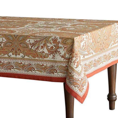 Maison d' Hermine Kashmir Paisley 100% Cotton Tablecloth 60 - inch by 60 - ()