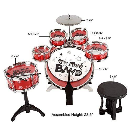 Buy toddler drum set with stool