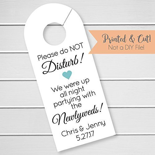 Wedding Door Hanger, Custom Hotel Door Hangers, Destination Wedding Welcome Bag (DH1)