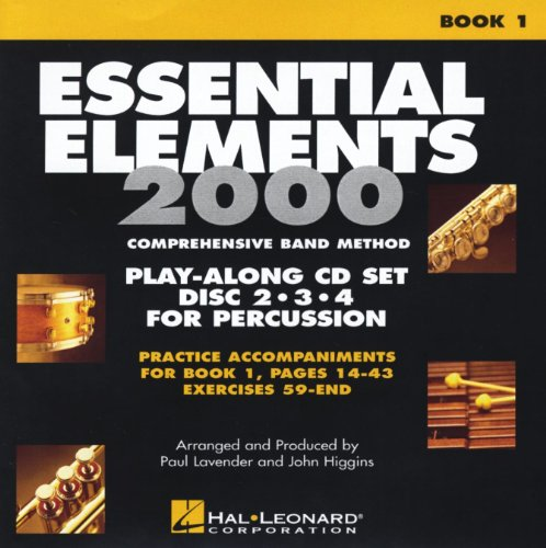 Hal Leonard EE2000 Play Along Trax Book. 1 - Discs 2, 3, & 4 for Percussion (Essential Elements 2000 Book 3)