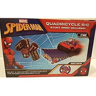 Marvel Spiderman Quadricycle R/C with Stunt Ramp!: Toys & Games
