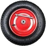 DKB-Tools-Germany Roue de brouette 4.80/4.00-8ou de chariot pour enfant Avec axe 400x 100mm