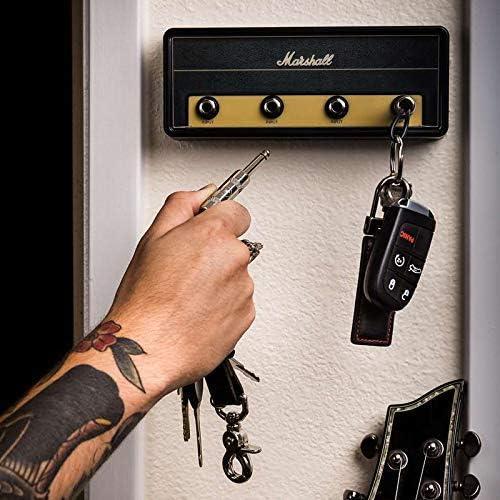 Soporte para Llaves Aaffiry Colgador de llaveros para Guitarra el/éctrica Amplificador de Guitarra Montaje en Pared Gancho de Almacenamiento para enchufes JCM800 Jack Rack