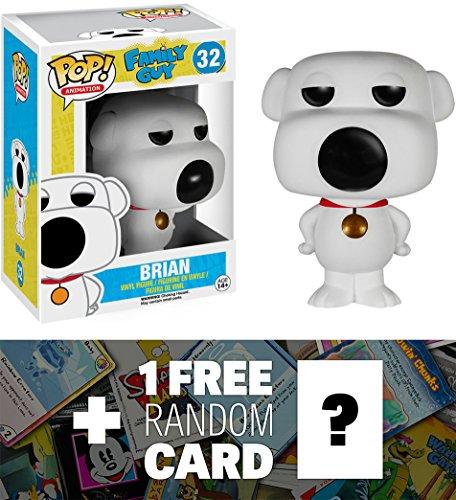 Brian: Funko POP! x Family Guy Vinyl Figure + 1 FREE American Cartoon Themed Trading Card Bundle (Family Guy Anime Peter)