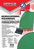Okladka do bindowania Office Products A4 kartonowa 100 sztuk zielona/skóropodobna