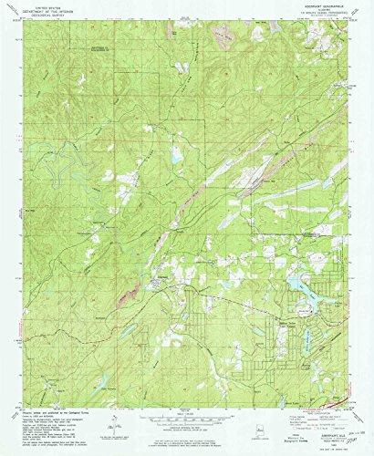 Abernant AL topo map, 1:24000 scale, 7.5 X 7.5 Minute, Historical, 1980, updated 1980, 26.8 x 22 IN - Paper